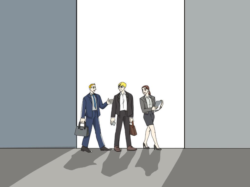 """Beim Gemba Walk begibt sich die Geschäftsführung an den """"Ort des Geschehens""""."""